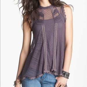 Free People 'Fiona's Victoria' Top Lavender Mesh